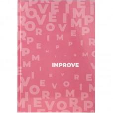 Книга записная А4 Pastelini, 96 л., кл., розовая