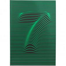 Книга записная А4 Numbers 80 л., кл., зеленая