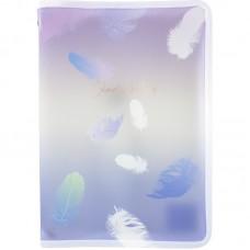 Папка объемная на молнии А4+, Colourful Feather 03