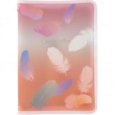 Папка объемная на молнии А4+, Colourful Feather 04