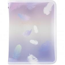 Папка объемная на молнии А5+, Colourful Feather 03