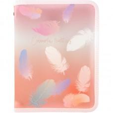 Папка объемная на молнии А5+, Colourful Feather 04
