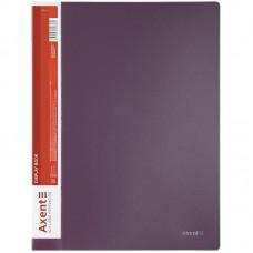 Дисплей-книга 20 файлов, сливовая