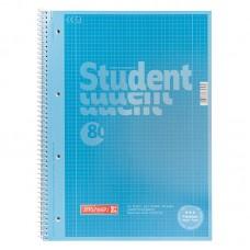 Колледж-блок А4 Premium, кл., 80 лист., синий
