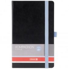 Книга записн.  Компаньон черн. голуб. срез А5 линия