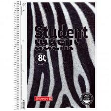 Колледж-блок А4 Premium, клетка., 80 лист., Zebra