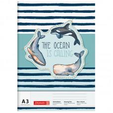 Альбом для рисования Happy Ocean  А3 20 лист. 100 г/м2