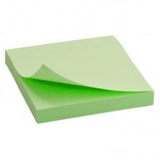 Блок бумаги с липким слоем 75x75 мм, 100 л., зелен.