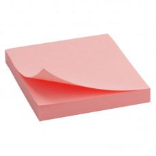 Блок бумаги с липким слоем 75x75 мм, 100 л., роз
