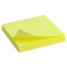Блок бумаги с липким слоем 75x75 мм, 100 л, ярко-желт