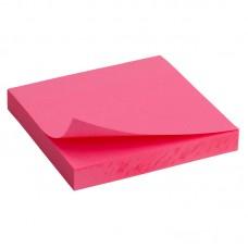Блок бумаги с липким слоем 75x75 мм, 100 л, ярко-роз.