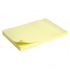 Блок бумаги с липким слоем 100x150 мм, 100 л., клетка