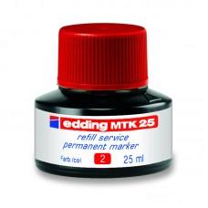 Чернила для заправки Permanent e-MTK25 красные