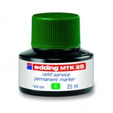 Чернила для заправки Permanent e-MTK25 зелёные