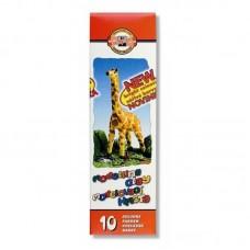 """Пластилин """"Жираф"""",карт.уп.,  200г., 10 цв."""