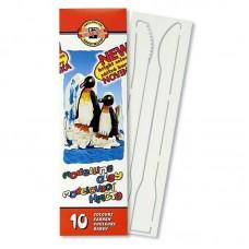 """Пластилин """"Пингвины"""", стеки, карт.уп., 200г 10 цв."""