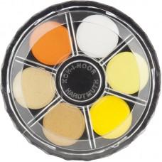 Краски акв., круглая пласт. упаковка, б/к, 24 цв.