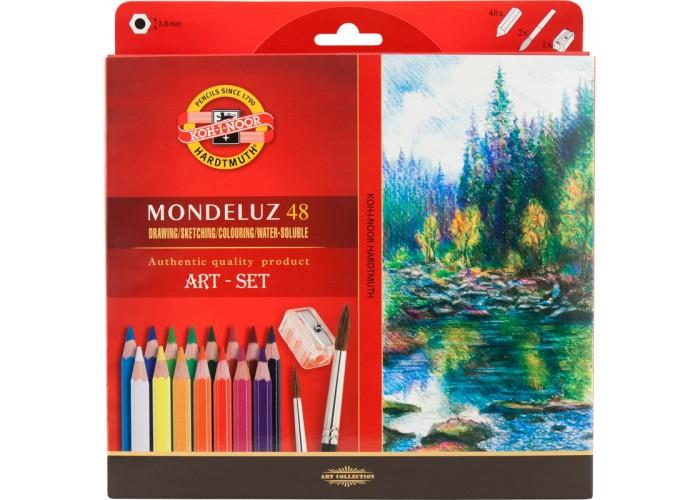 Карандаши цветные аквар.Mondeluz, 48 цв.