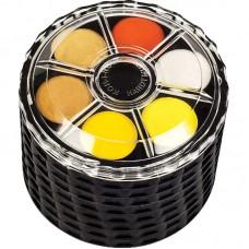 Краски акв., круглая пласт. упаковка, б/к, 48 цв.