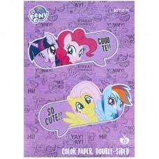 Бумага цветная двусторонняя Kite My Little Pony LP21-250