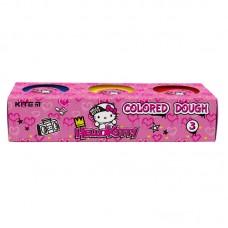 Цветнове тесто для лепки Kite Hello Kitty HK21-151, 3*75 г