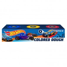 Цветнове тесто для лепки Kite Hot Wheels HW21-151, 3*75 г